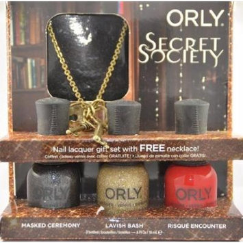 Orly Secret Society 3 Piece Gift Set with Free Lock and key Neclace
