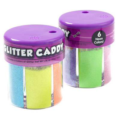 Generic Kids Craft Glitter Caddy, Neon colors