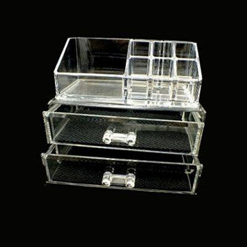 Royal Care Cosmetics Two Drawers Makeup Organizer and Lipstick Holder Combo