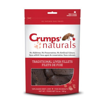 Crumps Naturals Crumps' Naturals Traditional Liver Fillets for Pets, 5.6-Ounce Multi-Colored