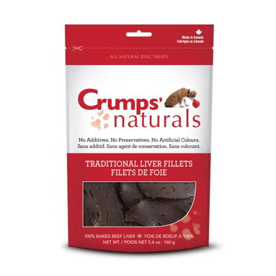 Crumps Naturals Crumps' Naturals Traditional Liver Fillets for Pets, 5.6-Ounce Multi-Colored