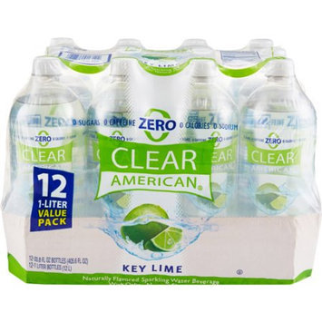 Clear American Key Lime Sparkling Water, 1 l, 12ct