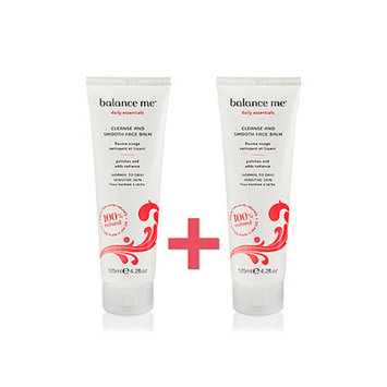 balance me Cleanse and smooth face balm 2 x 125ml