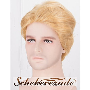Handsome Blonde Wigs for Men Short Wavy Synthetic Wig with Right Side Deep Part Scheherezade Men Wig Full Machine Made
