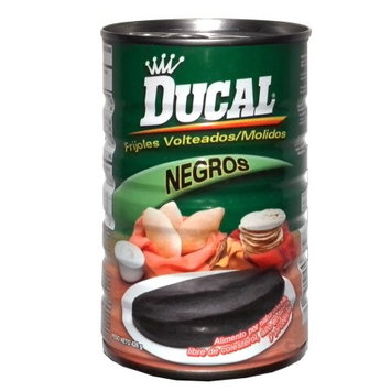 Ducal Refried Black Beans 15 oz - Frijoles Negros Refritos (Pack of 18)