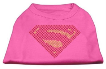 Mirage Pet Products 5277 SMBPK Super Rhinestone Shirts Bright Pink S 10