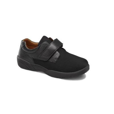 Dr. Comfort Brian Mens Stretchable Diabetic Casual Strap Shoe Black
