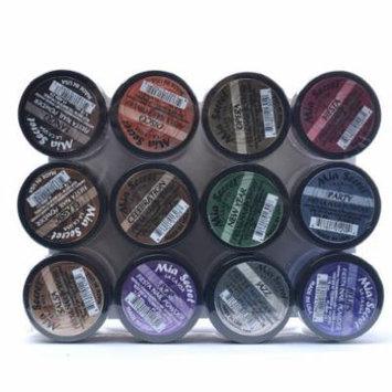 Mia Secret Nail Art Acrylic Powder 1/4 Oz Each Bottle Assortment of 12 Colors Fiesta