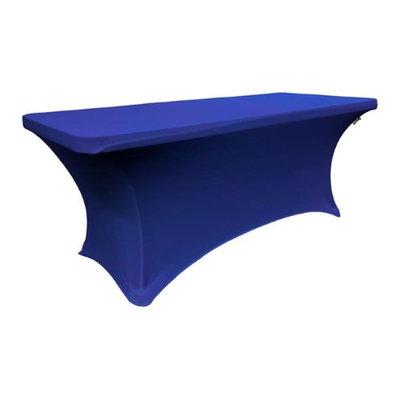 LA Linen TCSpandex96x30x30-RoyalBlueX50 Rectangular Spandex Tablecloth Royal Blue - 96 x 30 x 30 in.