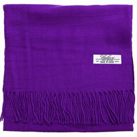 Falari Men Women Unisex Cashmere Feel Scarf 78' x 12' Solid Color Purple