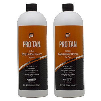Pro Tan Instant Body Builder Bronze Top Coat Ultra Dark Black Walnut Bronzing Mousse 33.8oz