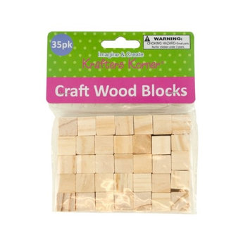 Home Essentials & Beyond Inc Natural Wooden Craft Blocks (Lot of 24) (Pack of 24)