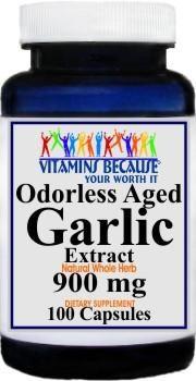 Vitamins Because Garlic 900mg 100 Capsules