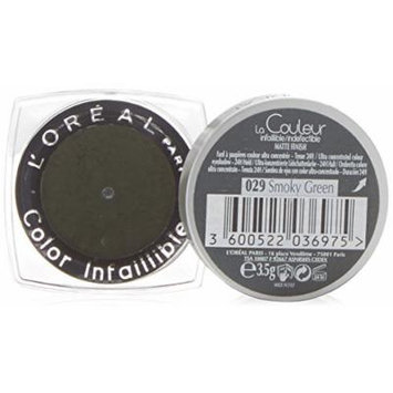 L'Oreal Color Infallible 029 Eye Shadow, Smoky Green 3.5 g