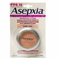 New Asepxia Beige Mate 2 Polvo Compacto Compact Powder Covers Imperfections 10g