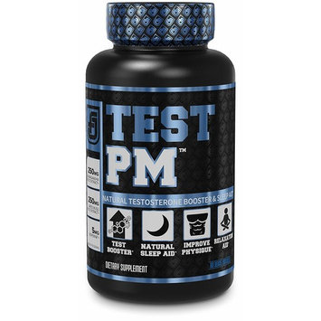 Test PM Testosterone Booster & Sleep Aid Supplement for Men | Promote Recovery, Muscle Growth, Rest, Fat Loss | Night Time Muscle Builder with Ashwagandha, L-Theanine, More | 60 Natural Veggie Pills