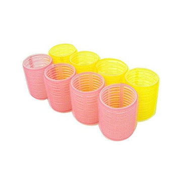 Jumbo Self-Grip Hair Roller Assorted Colors (Pink, Yellow, Blue, Green) (Jumbo)