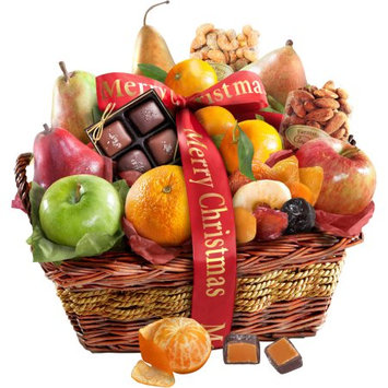 Golden State Fruit Merry Christmas Orchard Delight Gift Basket, 14 pc