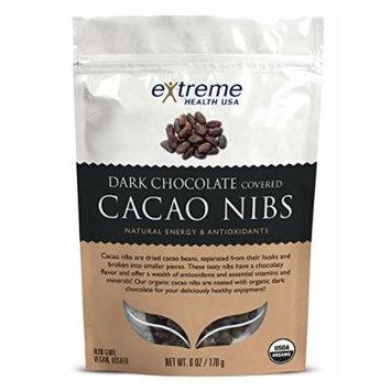 Extreme Health USA Dark Chocolate Covered Cocoa Nibs Organic -- 6 oz