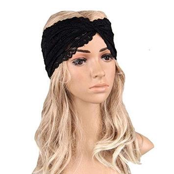 DEESEE(TM) Women Headwear Twist Sport Yoga Lace Headband Turban Headscarf Wrap