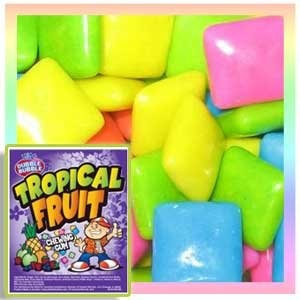 Concord Confections Tropical Fruit Gum/Chiclets, 5LBS