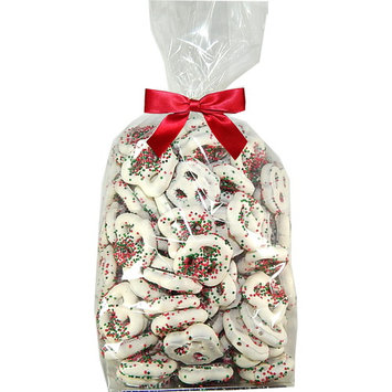 Chocolate Covered Pretzels | Guittard Chocolate Holiday Gift Pack | Gourmet Chocolate Coated | Salted Mini Pretzels By Candy Korner