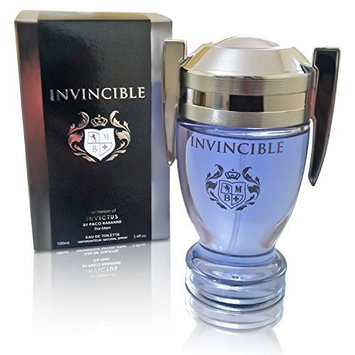 Invincible Perfume Eau De Toilette, Impression by Mirage Brands, 3.4 fl oz 100 ml - Long-Lasting Fragrance To Rock Every Occasion