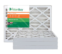AFB Bronze MERV 6 13x18x2 Pleated AC Furnace Air Filter. Filters. 100% produced in the USA. (Pack of 4)