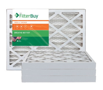 AFB Bronze MERV 6 12x24x2 Pleated AC Furnace Air Filter. Filters. 100% produced in the USA. (Pack of 4)