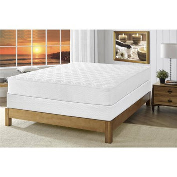Signature Sleep Gold Triumph 8 Inch Reversible Independently Encased Coil Mattress with CertiPUR-US certified foam & Foundation: Twin White
