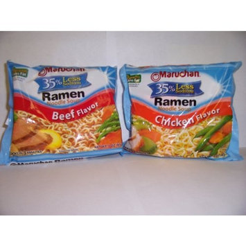Maruchan Ramen Low Sodium Variety Pack; 3oz Chicken and Beef (Pack of 24)