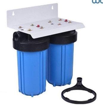 Premier Dual Big Blue Water Filter System w/Bracket (10x4.5)
