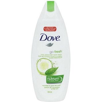Dove Go Fresh Body Wash, Cool Moisture, Cucumber & Green Tea 12 oz (10 Pack)