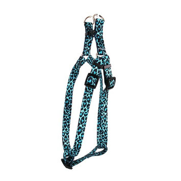 Yellow Dog Design Step-In Harness, Small [Leopard Teal]