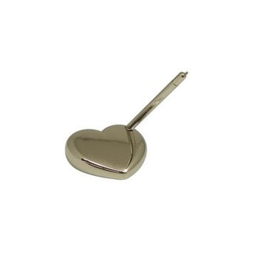 Bey-berk Arrow Pen w/ Heart Stand, Nickel Plated, D578