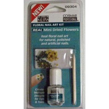 Cosmar Real Floral Nail Art Kit - Real Mini Dried Flowers - Top Coat - 09304 (2 Pack)