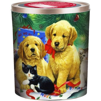 Gourmet Gift Concepts Llc Gourmet Select Puppy with Kittens Holiday Popcorn Tin, 18 oz