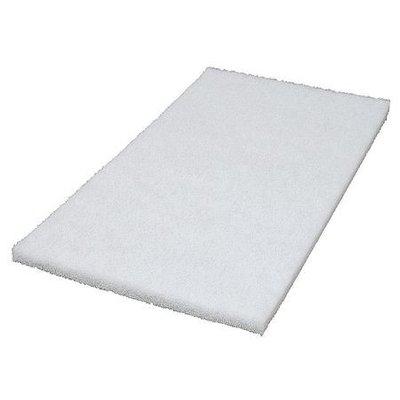 TOUGH GUY 6YMP1 Recycled Polishing Pad,12 In, White, PK5
