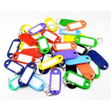Multi Coloured Plastic Key Tag Assortment (25 Pieces)