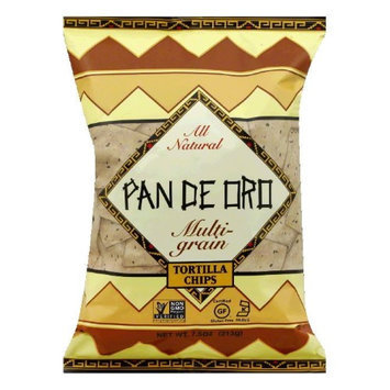 Pan De Oro Multigrain Tortilla Chips Case of 12 bags 7.5 oz per bag