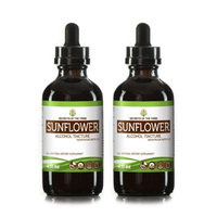 Secrets Of The Tribe Sunflower Tincture Alcohol Extract, Organic Sunflower (Helianthus annuus) Dried Petals 2x4 oz