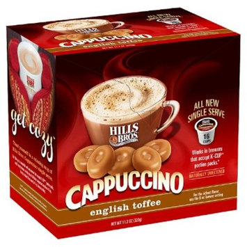 Hills Bros® English Toffee Cappuccino - Single Serve Pods - 16ct