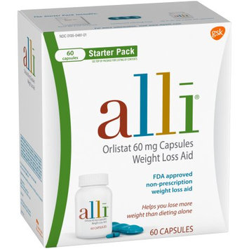 Alli® Capsules Starter Pack Weight Loss Aid Capsules 60 ct Box