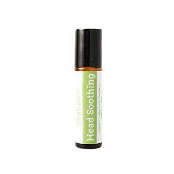 Head Soothing Essential Oil Blend Roll-On Bottle by Simply Earth - 10ml, 100% Pure Therapeutic Grade