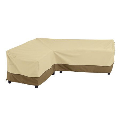 Classic Car Accessories Classic Accessories Verandaâ ¢ Patio Left L-Shape Sectional Lounge Set Cover - Durable and Water Resistant Outdoor Furniture Cover (55-881-011501-00)