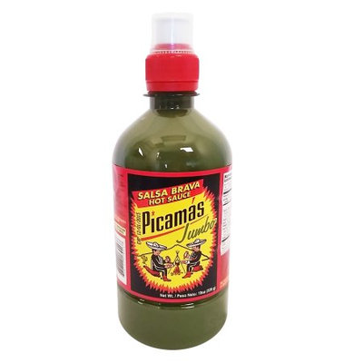 B & B B Picamas Green Hot sauce 19 oz - Salsa verde picante (Pack of 18)