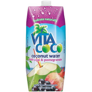 Vita Coco Coconut Water With Acai & Pomegranate, 17 oz (Pack of 12)