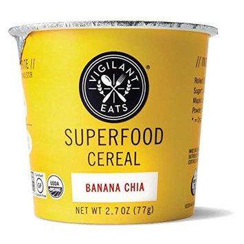 Vigilant Eats Organic Banana Chia Superfood Cereal, 2.7 Ounce - 12 per case.