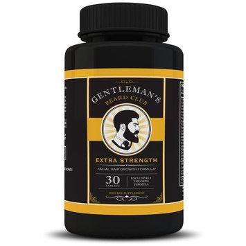 Gentleman's Beard Club Facial Hair Growth Formula Beard Growth Supplement Vitamin Grow a Fuller Thicker Beard 30 Tablets 1 Bottle
