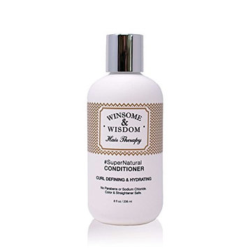 SuperNatural Conditioner For Curly Hair Daily Moisturizing Wavy Dry Natural Paraben Free Color Safe Women Men Kids Winsome & Wisdom Cruelty...